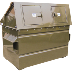 FL and GL Series Bear Resistant Front Load Dumpster Toppers