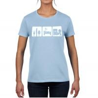 Eat Sleep Dump T-Shirt (OmniPak, Women's)