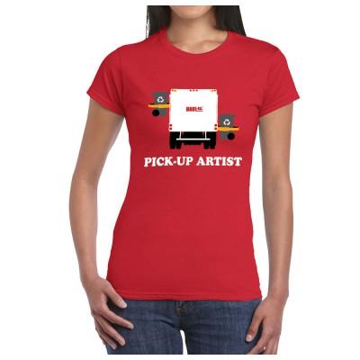 women pick up artist